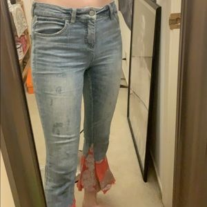 ANTHROPOLOGIE JEANS WITH DECORATIVE FLARE